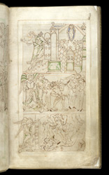 The Contest For Souls, in The Liber Vitae of New Minster and Hyde Abbey